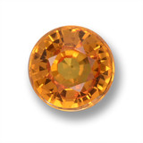 thumb image of 0.6ct Round Facet Apricot Orange Sapphire (ID: 461880)