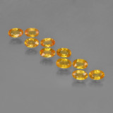 thumb image of 3.5ct Oval Facet Yellow Golden Sapphire (ID: 461966)