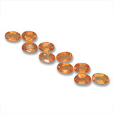 thumb image of 3.5ct Oval Facet Yellow Orange Sapphire (ID: 461988)