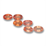 thumb image of 0.3ct Oval Facet Orange Sapphire (ID: 461990)