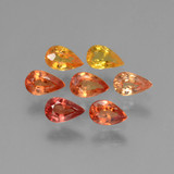 thumb image of 1.8ct Pear Facet Yellow Orange Sapphire (ID: 462011)