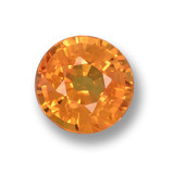 thumb image of 0.6ct Round Facet Yellow Orange Sapphire (ID: 462049)