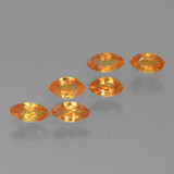 thumb image of 1ct Marquise Facet Orange Sapphire (ID: 462077)