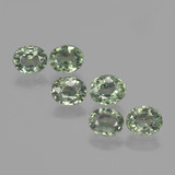 thumb image of 0.7ct Фасетный Овал Light Forest Green Сапфир (ID: 462663)
