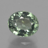 thumb image of 1.1ct Oval Facet Green Sapphire (ID: 462887)