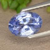 thumb image of 1ct Oval Facet Blue Sapphire (ID: 475615)