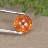 thumb image of 1ct Round Mixed-Cut Orange Sapphire (ID: 496676)