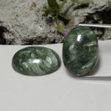 thumb image of 21.1ct Oval Cabochon Green Seraphinite (ID: 288213)