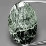 thumb image of 27.3ct Oval Cabochon Green Seraphinite (ID: 391074)
