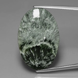 thumb image of 25.8ct Oval Cabochon Green Seraphinite (ID: 391117)