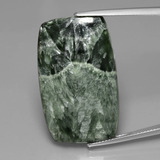 thumb image of 27.5ct Cushion Cabochon Green Seraphinite (ID: 391121)