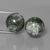 thumb image of 39.4ct Drilled Sphere Green Seraphinite (ID: 447352)