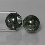 thumb image of 38.9ct Drilled Sphere Green Seraphinite (ID: 447355)