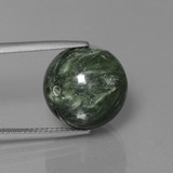 thumb image of 19.7ct Drilled Sphere Green Seraphinite (ID: 447356)