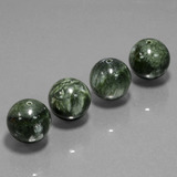 thumb image of 76.7ct Drilled Sphere Green Seraphinite (ID: 447455)