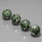 thumb image of 77.8ct Drilled Sphere Green Seraphinite (ID: 447456)