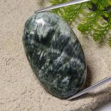 thumb image of 48.1ct Oval Cabochon Green Seraphinite (ID: 485921)