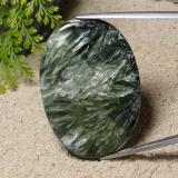 thumb image of 56.5ct Oval Cabochon Green Seraphinite (ID: 485927)