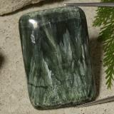 thumb image of 67.5ct Cushion Cabochon Green Seraphinite (ID: 486292)