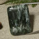 thumb image of 48.3ct Cushion Cabochon Green Seraphinite (ID: 486296)