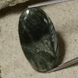 thumb image of 26.3ct Oval Cabochon Green Seraphinite (ID: 486309)