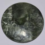 thumb image of 20.3ct Round Cabochon Medium Green Seraphinite (ID: 514365)