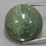 thumb image of 48.3ct Round Cabochon Green Serpentine (ID: 329015)