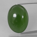 thumb image of 16ct Oval Cabochon Green Serpentine (ID: 396136)