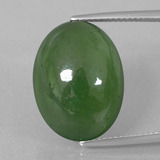 thumb image of 15.3ct Oval Cabochon Green Serpentine (ID: 396144)