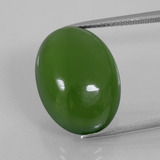 thumb image of 17.1ct Oval Cabochon Green Serpentine (ID: 396189)