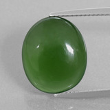 thumb image of 10.3ct Oval Cabochon Green Serpentine (ID: 396208)