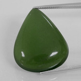 thumb image of 29.9ct Pear Cabochon Green Serpentine (ID: 396300)