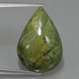 thumb image of 9.7ct Pear Cabochon Green Serpentine (ID: 403017)