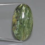 thumb image of 28.5ct Oval Cabochon Green Serpentine (ID: 403240)