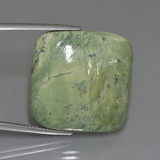 thumb image of 25.8ct Square Cabochon Green Serpentine (ID: 403241)