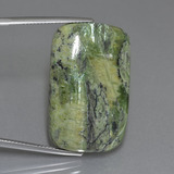 thumb image of 32.4ct Cushion Cabochon Green Serpentine (ID: 403242)