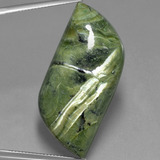 thumb image of 36.4ct Fancy Cabochon Green Serpentine (ID: 403312)