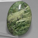 thumb image of 42ct Oval Cabochon Green Serpentine (ID: 403313)