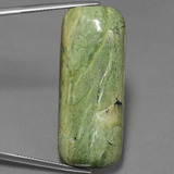 thumb image of 39.1ct Cushion Cabochon Yellowish Green Serpentine (ID: 451647)