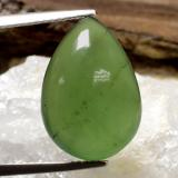 thumb image of 10.1ct Pear Cabochon Green Serpentine (ID: 469868)