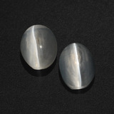 thumb image of 2.9ct Oval Cabochon Smoke Sillimanite Cat's Eye (ID: 409973)