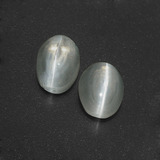 thumb image of 3ct Oval Cabochon Smoke Sillimanite Cat's Eye (ID: 410059)