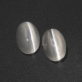thumb image of 2.8ct Oval Cabochon Smoke Sillimanite Cat's Eye (ID: 410062)