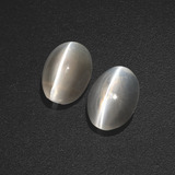 thumb image of 2.9ct Oval Cabochon Smoke Sillimanite Cat's Eye (ID: 410206)