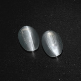thumb image of 1.3ct Oval Cabochon Clear White Sillimanite Cat's Eye (ID: 410404)