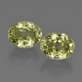 thumb image of 4.9ct Oval Facet Green Yellow Sillimanite (ID: 411297)