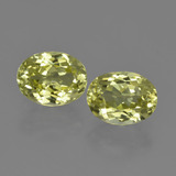 thumb image of 3.2ct Oval Facet Green Yellow Sillimanite (ID: 411370)