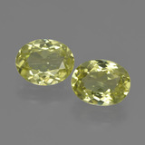 thumb image of 3.4ct Oval Facet Green Yellow Sillimanite (ID: 411376)