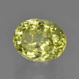 2.50 ct Oval Facet Green Yellow Sillimanite Gem 9.06 mm x 7.2 mm (Photo B)