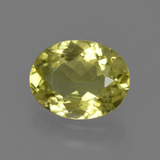 thumb image of 1.6ct Oval Facet Green Yellow Sillimanite (ID: 411557)